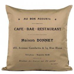 Poduszka French Home - Cafe Bar - beżowa