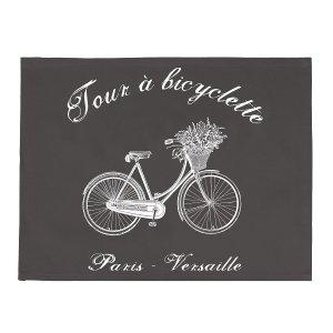 Serweta / podkładka French Home - Bicyclette - szara