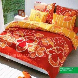 Pościel Benetton Ibiscus - pomarańczowa