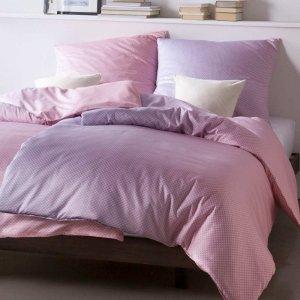 Pościel Estella mako-satyna - MIRO - różowo-fiołkowa