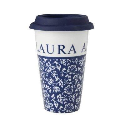 Laura Ashley BLUEPRINT - kubek COFFEE TO GO 370 ml - SWEET ALLYSUM