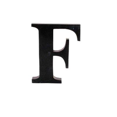Litera ozdobna duża - F - czarna