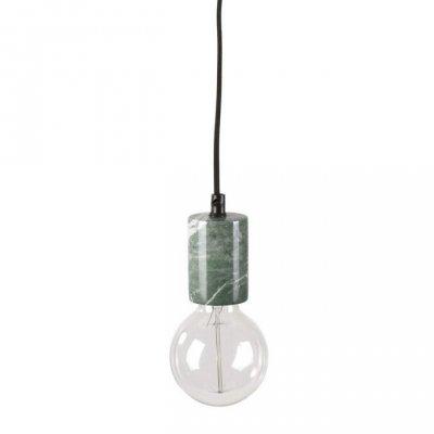 Lampa marmur z wtyczką - KOLV - zielona