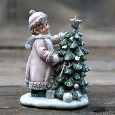 Figurka Chic Antique - Dziewczynka z choinką