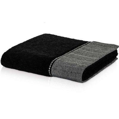Ręcznik Möve z lnem - BROOKLYN UNI - czarny