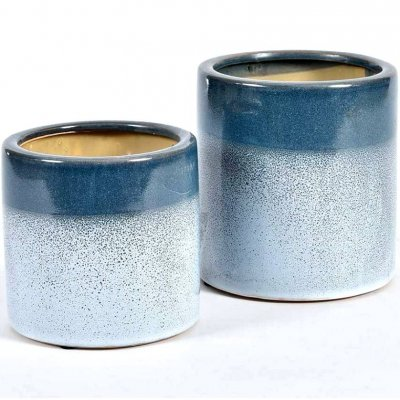 Doniczka Belldeco Włoskie Niebo - błękitno-niebieska - 13 cm
