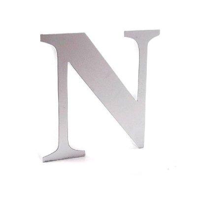 Litera dekoracyjna duża - N - biała