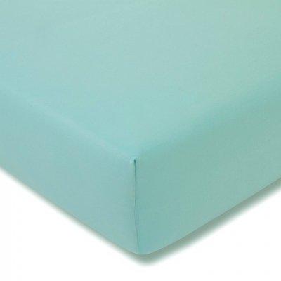 Prześcieradło ESTELLA Feinjersey z gumką - niebieskie turkusowe jasne
