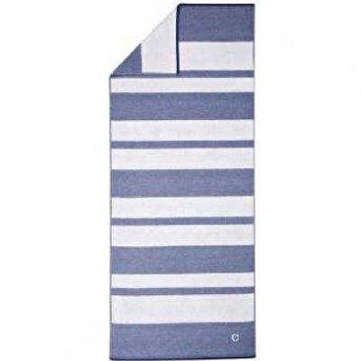 Ręcznik plażowy Cawo Denim - biało-niebieski 80x200 cm