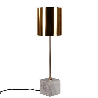 Lampa stołowa z marmuru - Ocke - miedziana