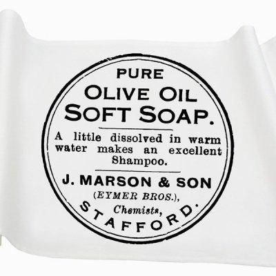 Bieżnik French Home - Olive M - biały