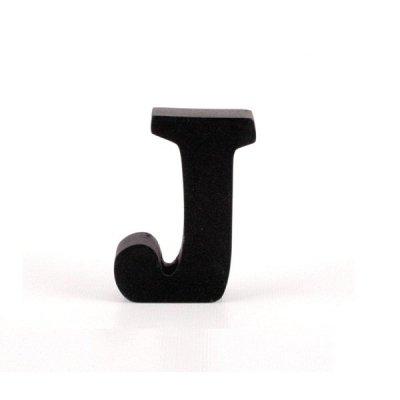 Litera ozdobna mała - J - czarna