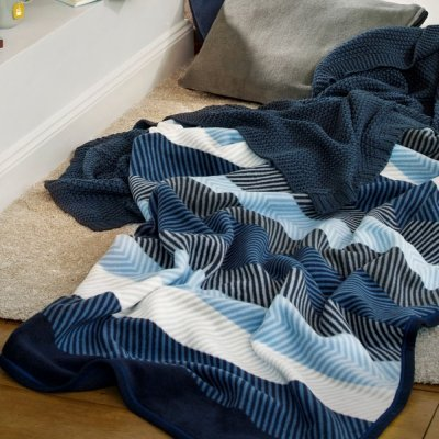 Koc Biederlack Winter - BLUE STRIPE