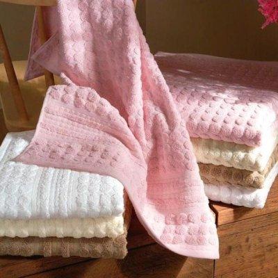 Ręcznik Tac - Point - biały ecru beżowy różowy