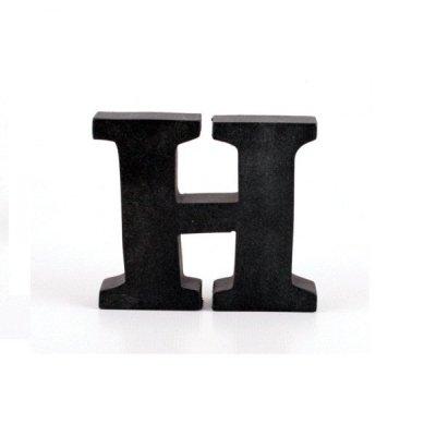 Litera ozdobna mała - H - czarna