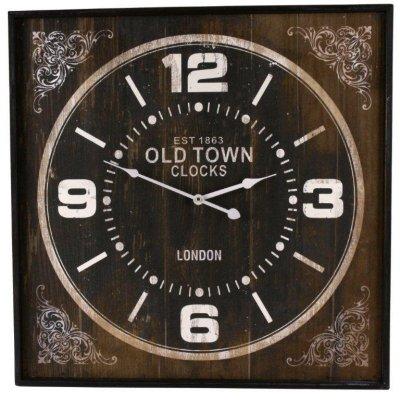 Zegar Old Town - kwadratowy - 60 cm