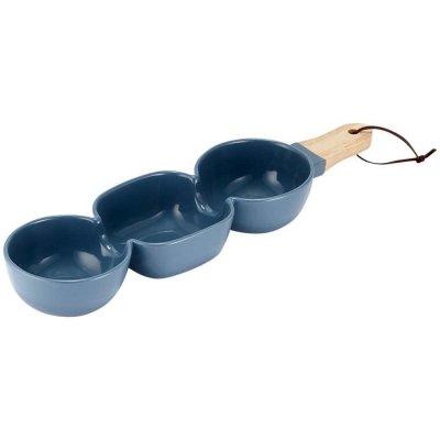 CLASSIC - miseczki do dipów i przekąsek Ladelle - niebieskie 3-częściowe