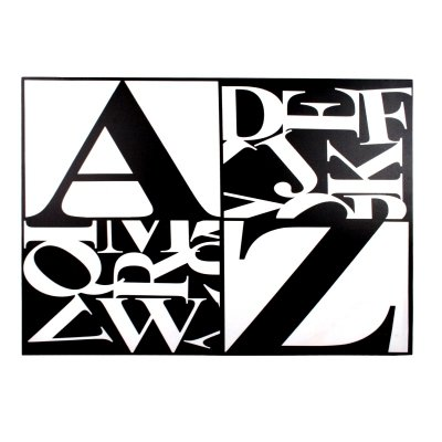 Obraz typograficzny - LETTERS I