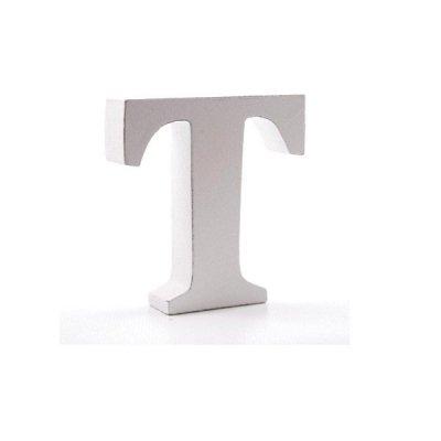 Litera dekoracyjna mała - T - biała