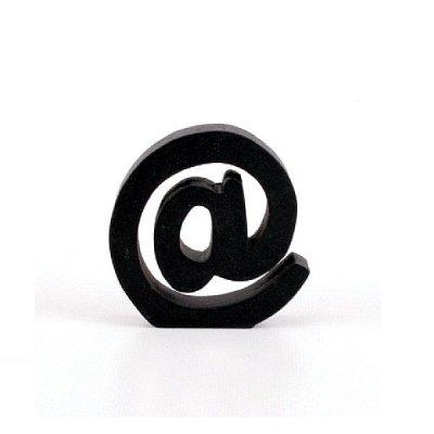 Znak dekoracyjny - @ - czarny 7 cm