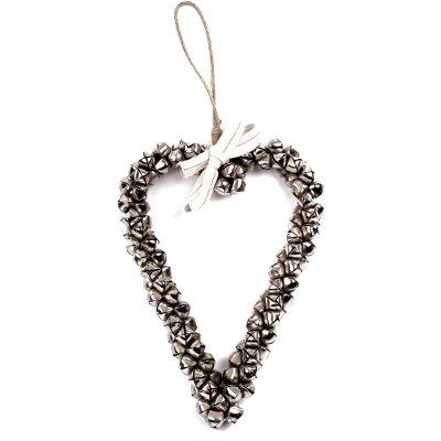 BELLS - serce dekoracyjne z dzwonków - 35 cm