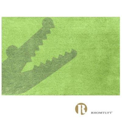 Dywanik łazienkowy Rhomtuft - Croc - zielony