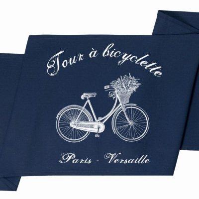 Bieżnik French Home - Bicyclette M - granatowy