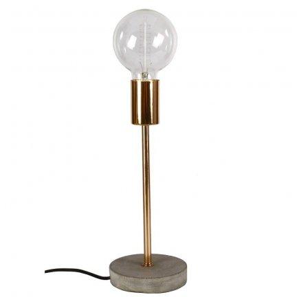 Lampa stołowa z betonu - Bello - miedziana