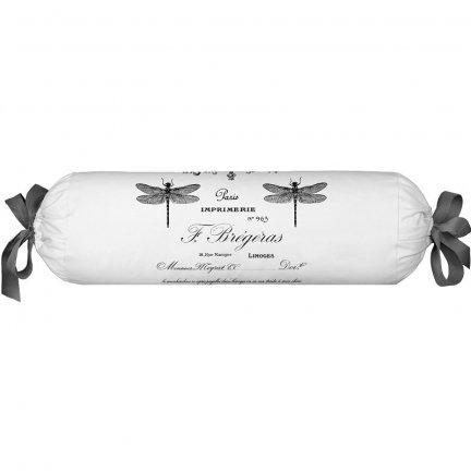Poduszka dekoracyjna wałek French Home - French - biało-szara