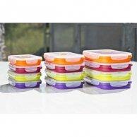 Box silikonowy, 21 x 13 x 2,5cm, color, forma na muffinki, 1200ml