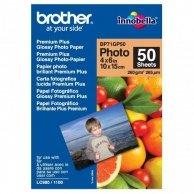 Brother Premium Glossy Photo Pa, foto papier, połysk, biały, 10x15cm, 4x6, 260 g/m2, 50 szt., BP71GP50