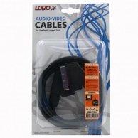 Audio/video kabel Scart-Scart, M/M2m, Logo, blistr