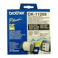 Brother etykiety papierowe 29mm x 62mm, biała, 800 szt., DK11209, do drukarek typu QL