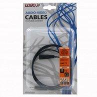 Audio Kabel Jack(3,5mm)-Jack(3,5mm), M/F1.5m, Logo