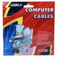 Kabel sieciowy 230V przedłużacz, C13-C14, 3m, VDE approved, Logo