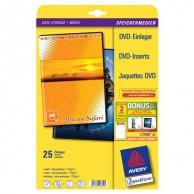Avery Zweckform, Koperta papierowa na DVD, biały, 273 x 183 mm, 25 arkusza, do drukarek atramentowych, O