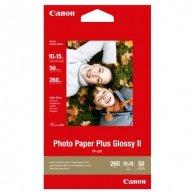 Canon Photo Paper Plus Glossy, foto papier, połysk, biały, 10x15cm, 4x6, 260 g/m2, 50 szt., PP-201 4x6, atrament