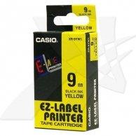 Casio taśma do drukarek etykiet, XR-9YW1, czarny druk/żółty podkład, nielaminowany, 8m, 9mm
