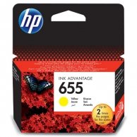 HP oryginalny ink CZ112AE#BHK, No.655, yellow, 600s, HP Deskjet Ink Advantage 3525, 5525, 6525, 4615 e-AiO