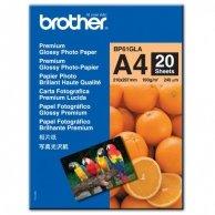 Brother Glossy Photo Paper, foto papier, połysk, biały, A4, 190 g/m2, 20 szt., BP61GLA, atrament