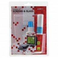 Środki czyszczące zestaw do ekranów,    rozpylacz 50ml, 10 ściereczek, LOGO