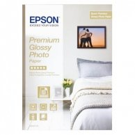 Epson Glossy Photo Paper, foto papier, połysk, biały, Stylus Color, Photo, Pro, A4, 255 g/m2, 15 szt., C13S042155, atrament