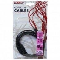 FireWire kabel IEEE 1394, 6pin-4pin, M/M, 2m, Logo, blistr