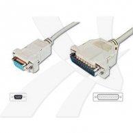 kabel do transmisji danych serial + równoległe, 25pin-9pin, M/F, 2m, No Name, do modemu