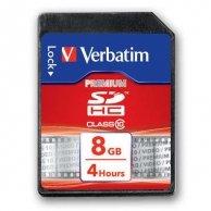 Verbatim Secure Digital Card (SDHC), 8GB, SDHC, 43961, Class 10, do archiwizacji danych
