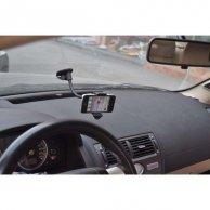Uchwyt telefonu komórkowego do samochodu, na deskę rozdzielczą, czarny, plastikowy