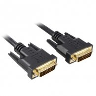 Video Kabel Dual link, DVI(24+1)-DVI(24+1), M/M15m, pozłacane końcówki, ekranowany, No Name