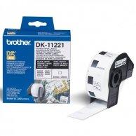 Brother etykiety papierowe 23mm x 23mm, biała, 1000 szt., DK11221, do drukarek typu QL