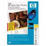 HP Superior Inkjet Paper 1, foto papier, połysk, dwustronny, biały, A4, 180 g/m2, 50 szt., C6818A, atrament