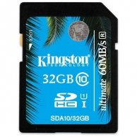 Kingston SDHC UHS-I Ultimate Memory Card, 32GB, SDHC, SDA10/32GB, Ultra High Speed Class 10, do archiwizacji danych